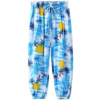 5-6T Summer Girls Kids Coco Print Elastic Anti Mosquito Pants Trousers
